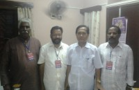 With Tripura Minister