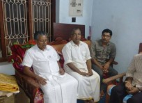 Com Pinarayi vijayan consoles the parents of Aneesh
